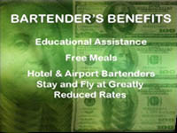 Learn bartending begind an actual bar at the Professional Bartending School of Cincinnati, OH